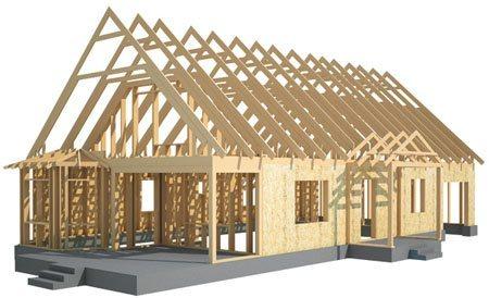 Здания на основе деревянного каркаса в Северске